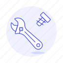 bolt, construction, factory, knot, manufacture, nut, screw, tools, wrench icon