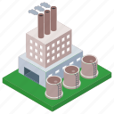 commercial building, factory, power industry, power mill, power plant icon