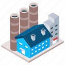 architecture building, commercial building, factory, industry unit, mill architecture icon