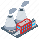 commercial building, power industry, power mill, power plant, power station icon