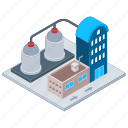 commercial building, commercial industry, factory, mill, refinery industry icon