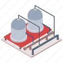 commercial building, commercial industry, mill, oil refinery icon