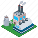 commercial building, mill, oil refinery, oil refinery industry, power plant icon