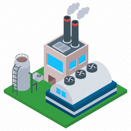 Commercial building, mill, oil refinery, oil refinery industry, power plant icon - Download on Iconfinder