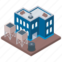 architecture building, commercial building, industry unit, mill architecture icon