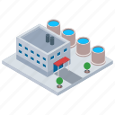 commercial building, factory, industrial mill, industry, mill architecture icon
