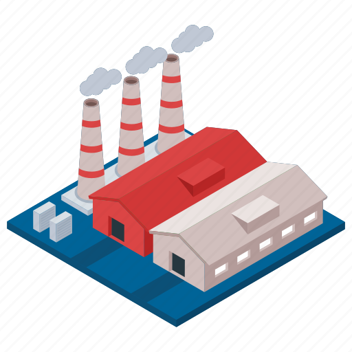 Commercial building, power industry, power mill, power plant, power station icon - Download on Iconfinder