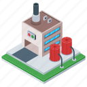 commercial building, factory, manufacturing unit, mill, refinery industry icon