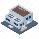 commercial building, manufacturing plant, warehouse building, warehouse logistic, warehouse unit icon