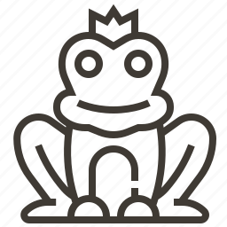 fairy tale, frog, frog prince icon