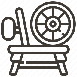 fairy tale, spinning wheel icon