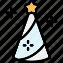 fairy, fairytale, hat, magic icon