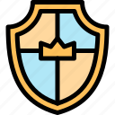 crown, fairytale, protect, shield icon
