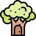 fairytale, house, tree, witch icon