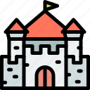 castle, fairytale, fortress, kingdom icon