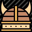 fairytale, helmet, metal, viking icon