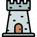 fairytale, fortress, kingdom, stronghold icon