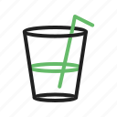 beverage, drinks, fresh, glass, ice, soft, water icon