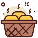 basket, breasd, food, fruits, health icon