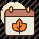 autumn, calendar, leaf, outdoor, schedule, seasonal, tree