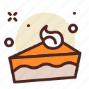 pie, halloween, pumpkin icon