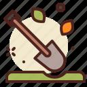 gardening, shovel, tool, work icon