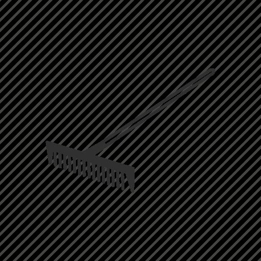 garden rake. Agriculture, Farm, Garden, Garden Rake, Metal, Tool Icon Rake