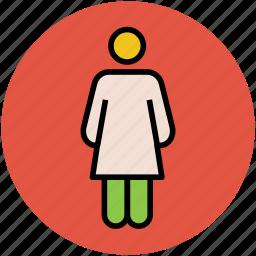 familiar, female, girl, human, woman icon