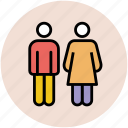 couple, family members, male, man, people, two persons icon