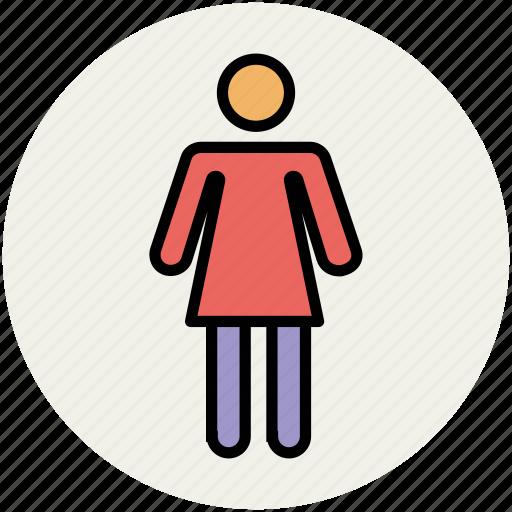 familiar, female, girl, human, wife, woman icon