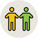 couple, family members, male, man, people, two person icon