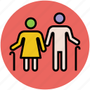 elderly, grandmother, old ages, old couple, old man icon