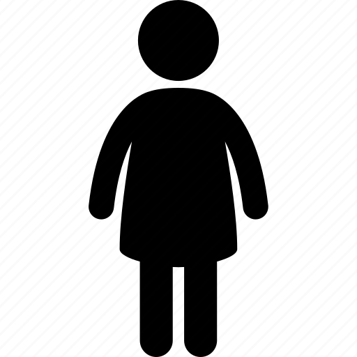 child, children, daughter, female, girl, little, standing icon