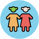 baby girls, children, kids, kids avatar, two babies icon