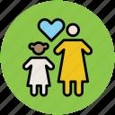 familiar, family, family loving, heart shape, love, people icon