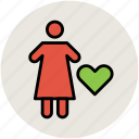 familiar, female, heart shape, love, people, romance icon