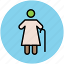 elderly, grandmother, old age, old lady, old woman icon