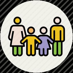 familiar, family, members, people, siblings icon