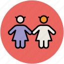 children, kids, kids avatar, two babies icon