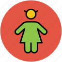 baby, child, daughter, familiar, female, girl, human, kid icon