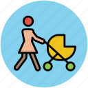 baby in trolley, baby on stroller, baby stroller, infant stroller, stroller icon