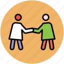gesture, greeting, hand shaking, shake hands icon