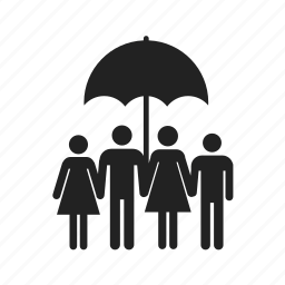 boy, children, dad, daddy, family, father, girl, happy, mom, mother, umbrella icon
