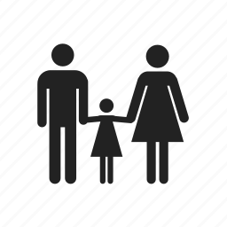 children, dad, daddy, daughter, family, father, girl, happy, mom, mother, parent icon