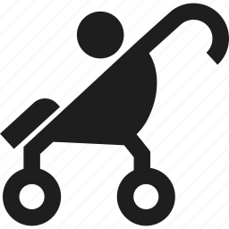 baby, buggy, child, stroller icon