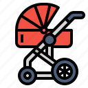 baby, family, pushchair, stroller icon