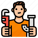 dad, family, husband, repair icon