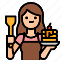 avatar, cooking, girl, wife icon