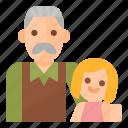 family, granddougther, grandpa, niece