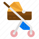 baby, buggy, kid, pushchair, stroller icon